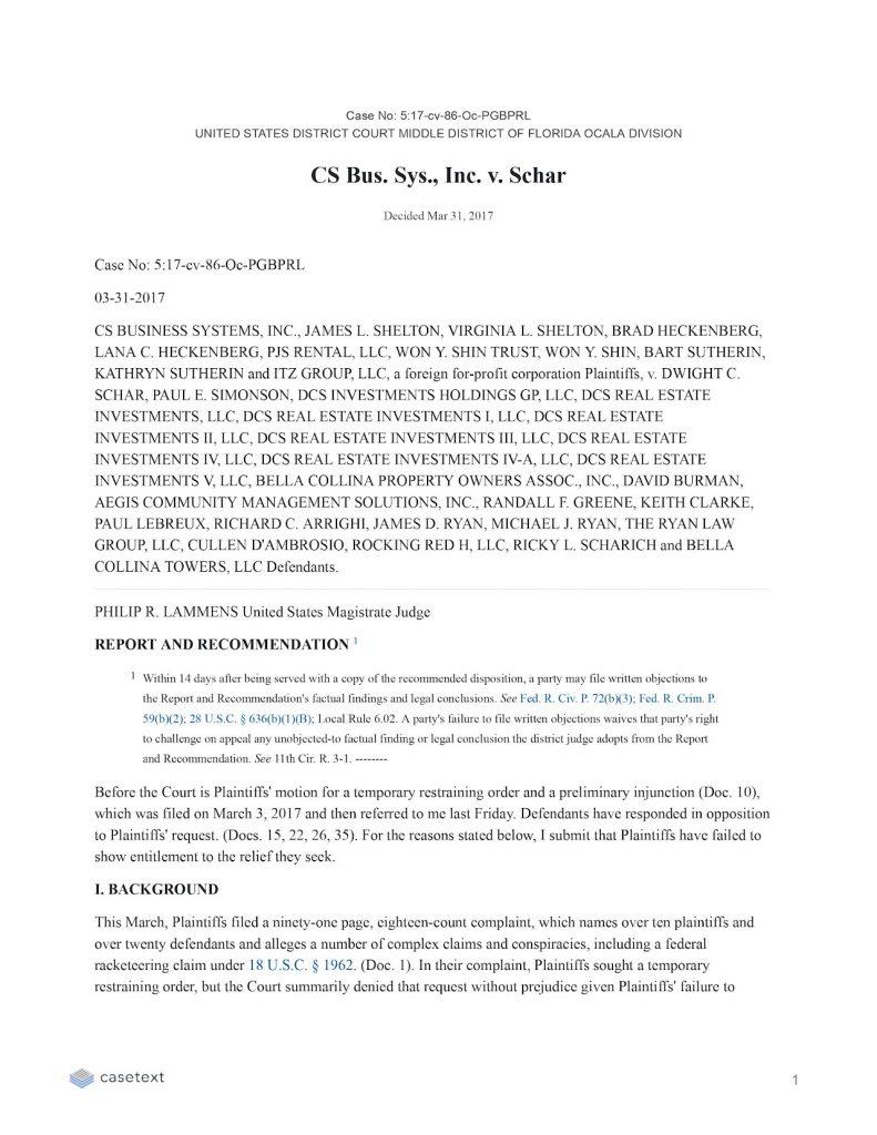 CS BUSINESS SYSTEMS, INC., JAMES L. SHELTON