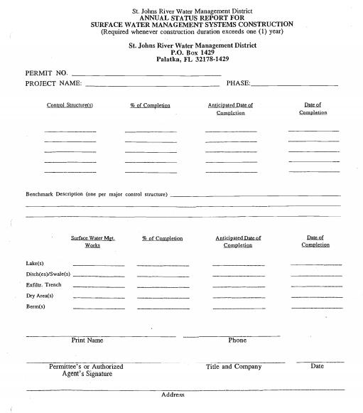 Annual Status Report
