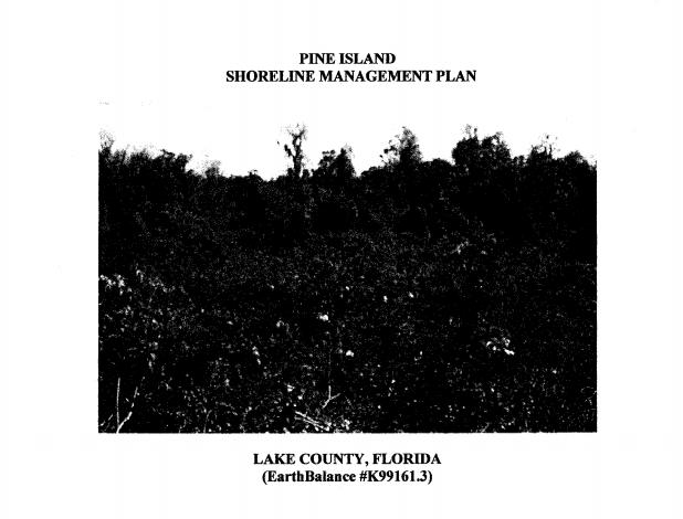 PINE ISLAND SHORELINE MANAGEMENT PLAN
