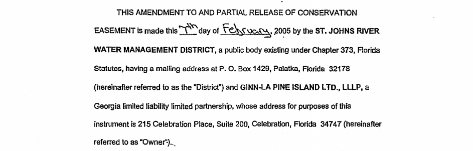 This Amendment to and Partial release of conservation