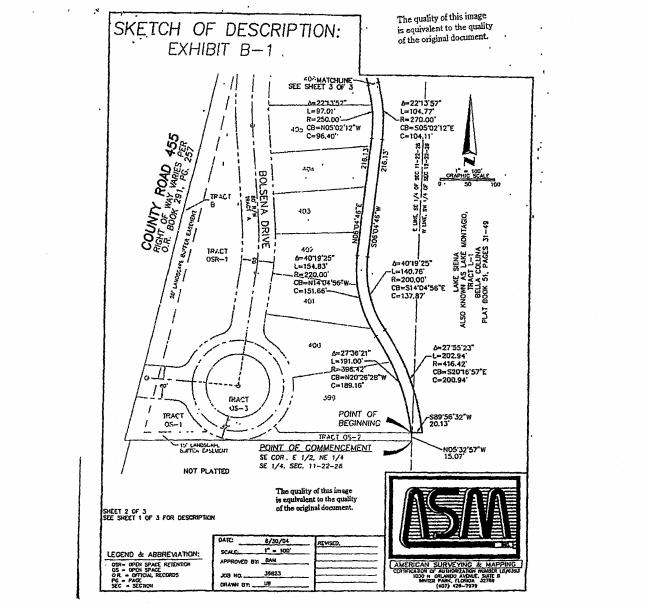 SKETCH OF DESCRPTION  EXHIBIT B-1
