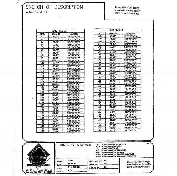 SKETCH OF DESCRIPTION SHEET 10 OF 11