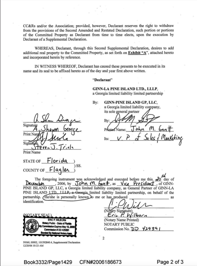 FIRST AMENDMENT TO SECOND AMENDED AND RESTATED DECLARATION OF COVENANTS, COFIRST AMENDMENT TO SECOND AMENDED AND RESTATED DECLARATION OF COVENANTS, CONDITIONS AND RESTRICTIONS FOR BELLA COLLINA