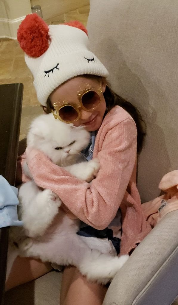 This is Levia and her cat Coco which Dwight Schar's team tried to hurt