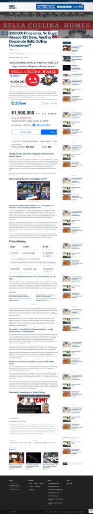 $300,000 No Buyer Already 324 Days, Another Desperate Bella Collina Homeowner?