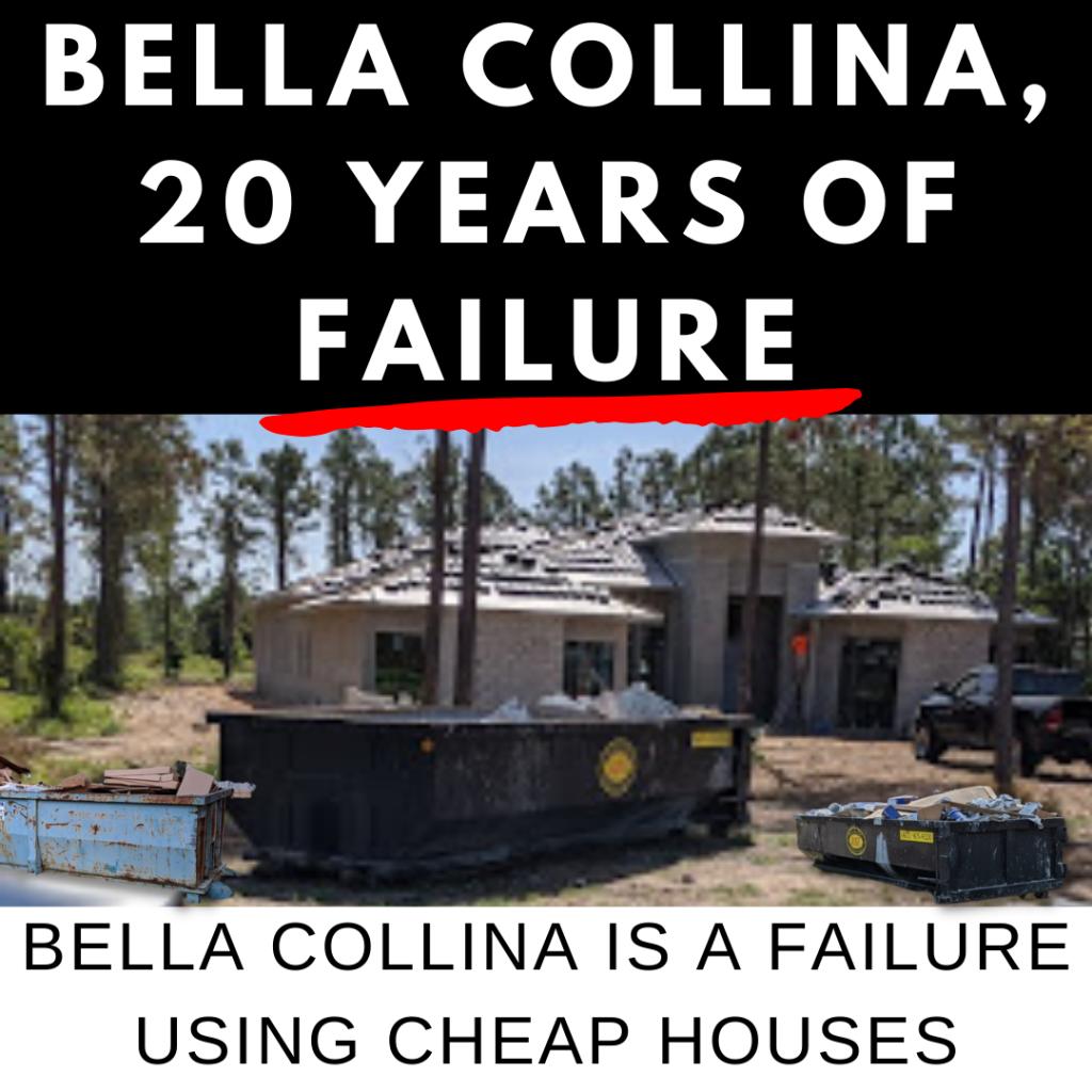 BELLA COLLINA REAL ESTATE 2018 SALES ARE A DISASTROUS FAILURE