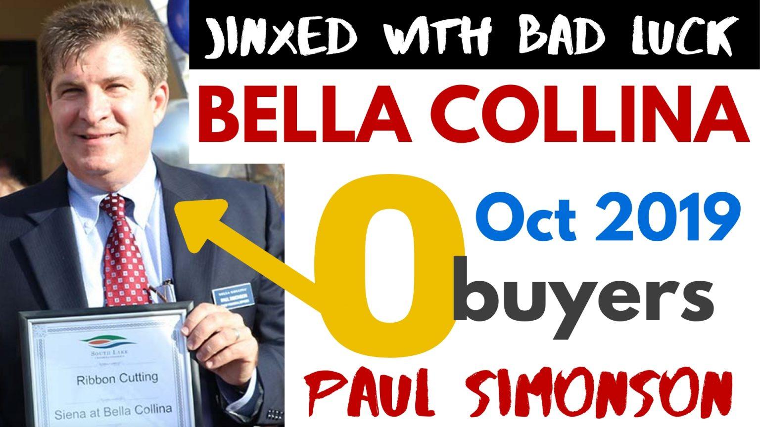 No sales in Bella Collina Homes