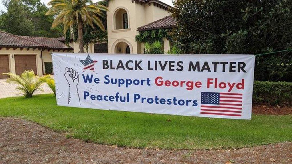 Black Lives Matter Sign We support GEORGE FLOYD