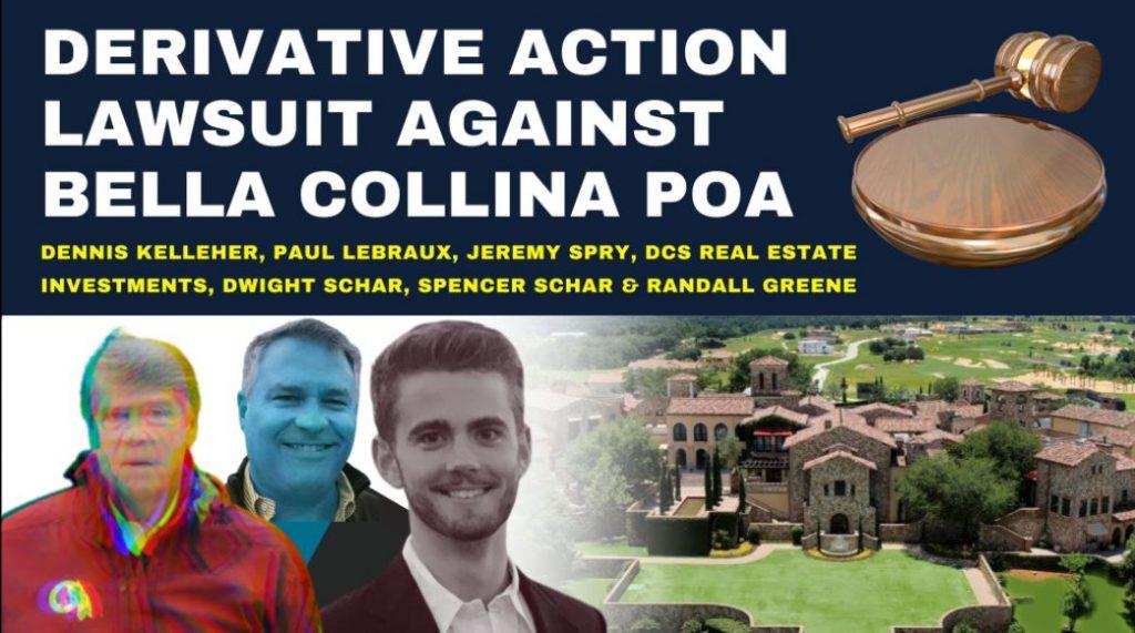Derivation Action lawsuit Against Bella Collina POA
