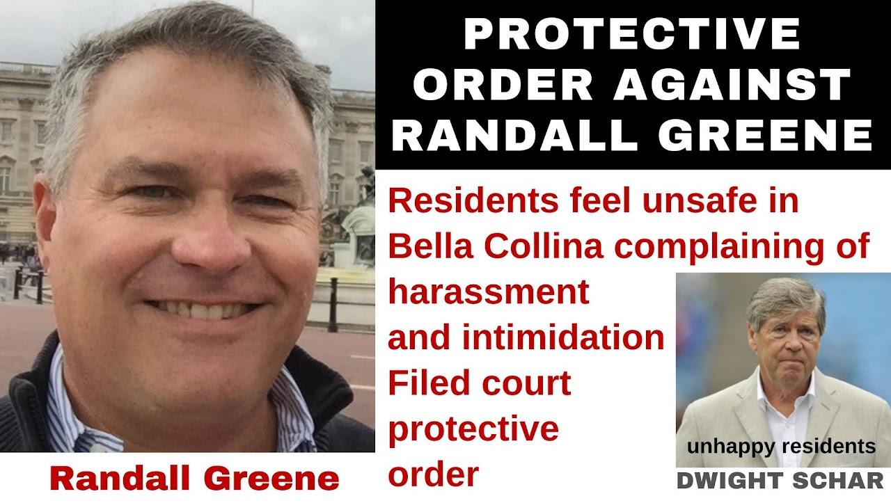 DON JURAVIN FILED PROTECTIVE INJUNCTION AGAINST RANDALL GREENE