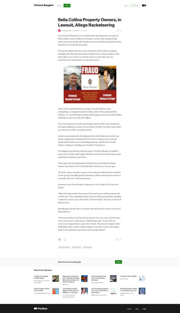Bella Collina Property Owners, in Lawsuit, Allege Racketeering