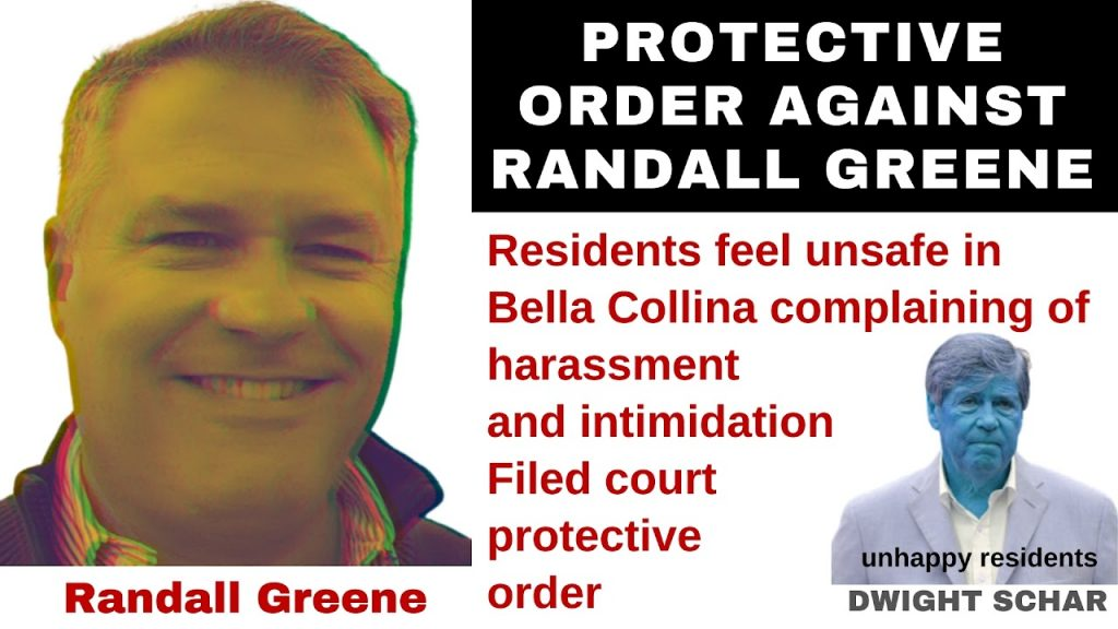 PROTECTIVE ORDER AGAINST RANDALL GREENE
