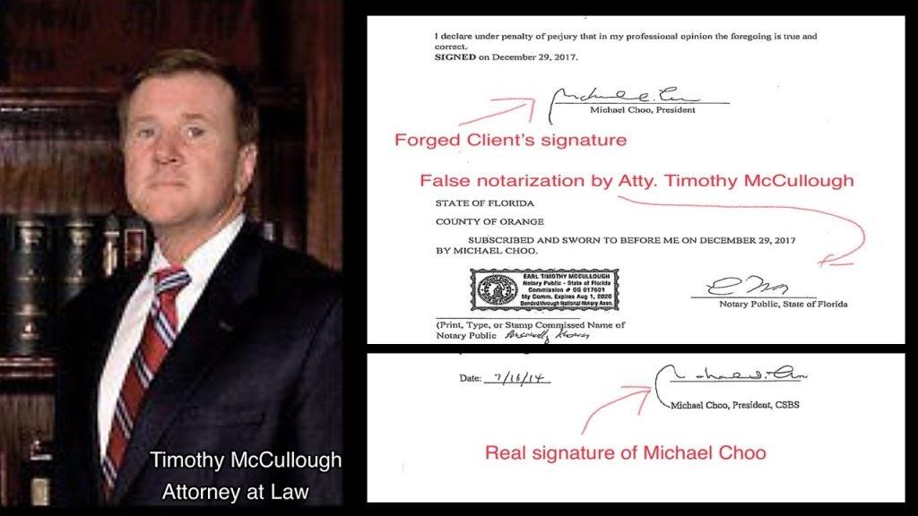Attorney Tim McCullough accused of forging a signature
