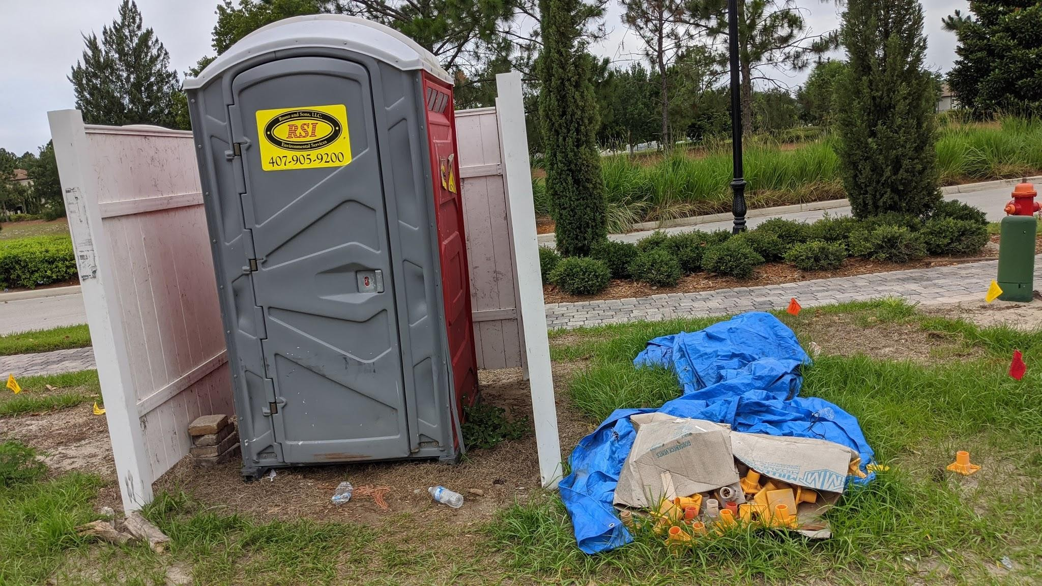 Ugly toilets on Bella Collina streets year-round