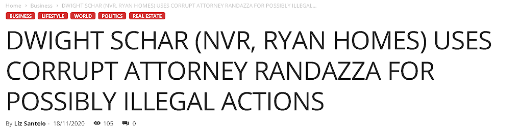DWIGHT SCHAR USES CORRUPT ATTORNEY RANDAZZA FOR POSSIBLY ILLEGAL ACTIONS