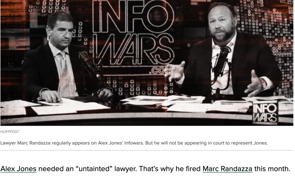 """Alex Jones needed an """"untained"""" lawyer. That's why he fired Marc Randazza this month."""