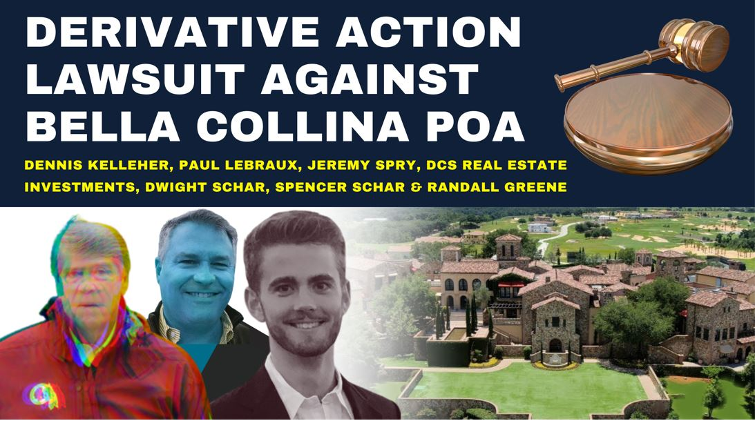 Derivative action lawsuit against Bella Collina