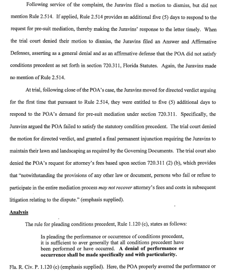 PAGE 4 In the circuit court, fifth judicial circuit, lake county, Florida appellate division