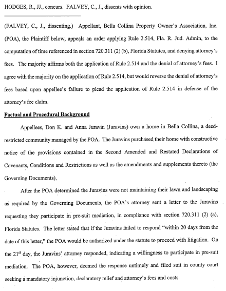 PAGE 3 In the circuit court, fifth judicial circuit, lake county, Florida appellate division