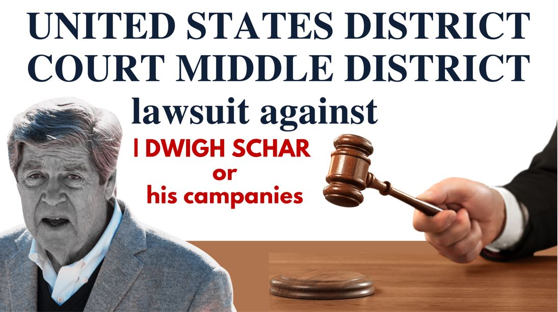 UNITED STATES DISTRICT COURT MIDDLE DISTRICT OF FLORIDA ORLANDO DIVISION DWIGHT SCHAR